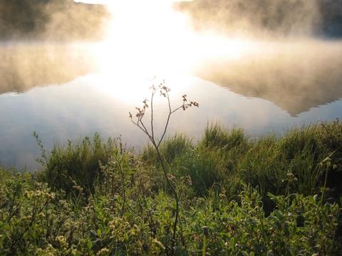 Sun rise at the Peanut lake