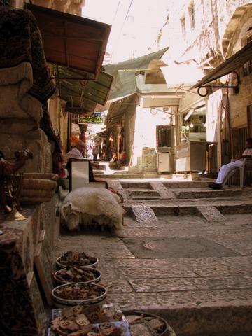 Market Street leading to Jaffa Gate