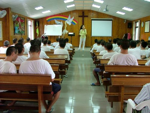 Teaching at The Ming De Drug Rehabilitation Center, Tainan, Taiwan