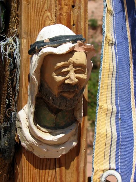 Arab Head on a store post