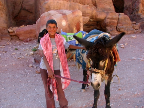 Bedouin boy with his donkey