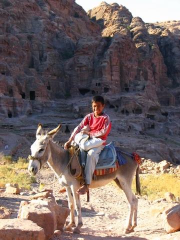 Bedouin boy in the morning sun