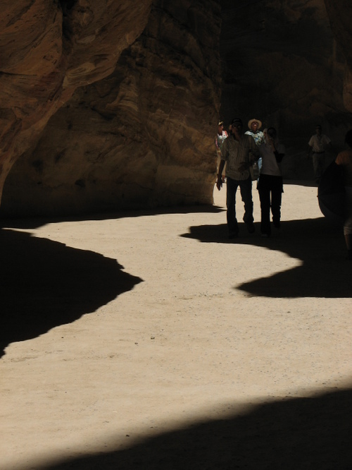 Shade pattern in the Siq