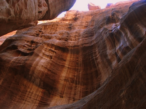 Rock formation at the Siq